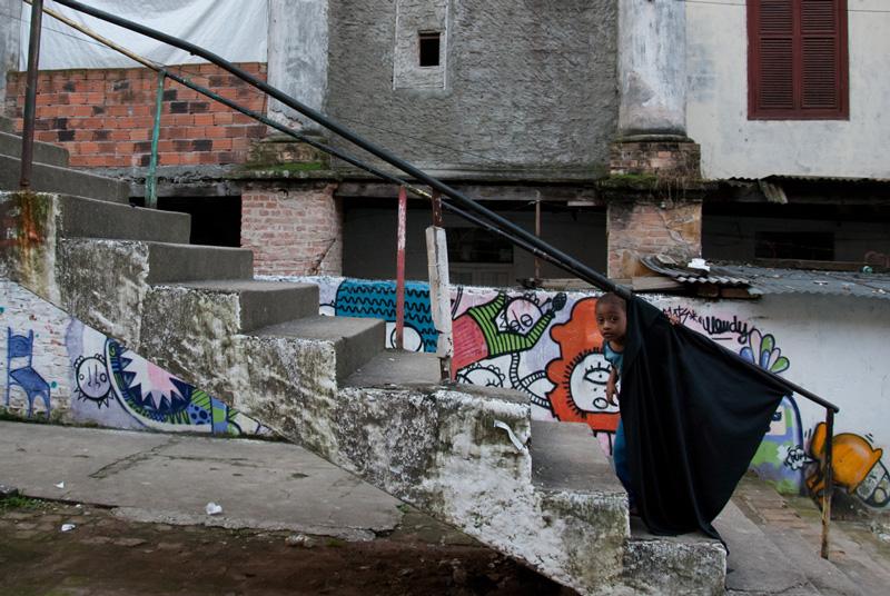 "Marcel Maggion Maia ""Prefeitura de São Paulo expulse familias pobres de Bairro nobre para construer centro cultural"" 30x45"