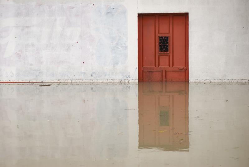 """Arturo Godoy """"Breve vista a una inundación"""" 40x60"""